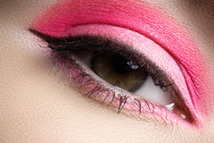 Cosmetics, eyeshadows. Macro fashion eye make-up Stock Photography