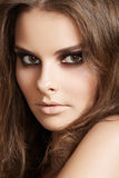 Cosmetics, fashion make-up. Woman with clean skin Royalty Free Stock Images