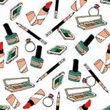 Cosmetics fashion pattern Royalty Free Stock Photo