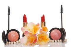 Cosmetics and flower, beauty concept Royalty Free Stock Images