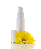 Cosmetics gel and flower Royalty Free Stock Image