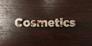 Cosmetics - grungy wooden headline on Maple - 3D rendered royalty free stock image. This image can be used for an online website banner ad or a print postcard Royalty Free Illustration