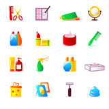 Cosmetics and hygiene icons Royalty Free Stock Photo