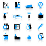Cosmetics and hygiene icons Royalty Free Stock Images