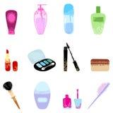 Cosmetics icon set. Stock Image