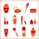 Cosmetics icon set. Stock Photo