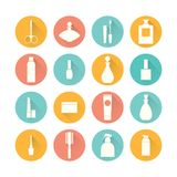 Cosmetics icon set Royalty Free Stock Photo