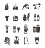 Cosmetics icons Royalty Free Stock Images