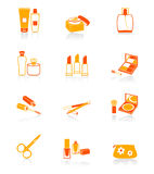 Cosmetics icons | JUICY series Royalty Free Stock Images