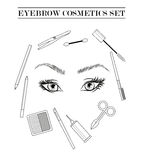 Cosmetics icons tools Stock Images