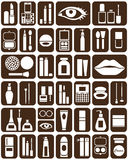 Cosmetics icons Royalty Free Stock Photo