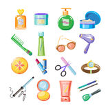 Cosmetics Icons. Vector Illustration Set Stock Photography