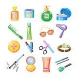 Cosmetics Icons. Vector Illustration Set Stock Photography