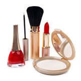 Cosmetics isolated on white background. Women cosmetics isolated on white background royalty free stock photo