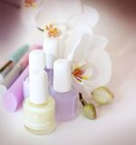 Cosmetics items Stock Photo
