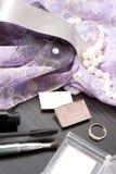 Cosmetics and jewelery Stock Photos