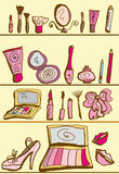 Cosmetics kit Royalty Free Stock Images