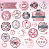 Cosmetics labels and badges. Set of cosmetics labels and badges royalty free illustration