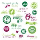 Cosmetics labels Stock Photos