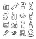Cosmetics line icons Royalty Free Stock Photo
