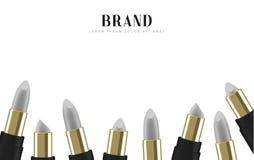 Cosmetics lipstick. 3d illustration beautiful advertising poster.  Royalty Free Stock Image