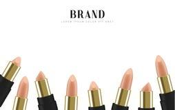 Cosmetics lipstick. 3d illustration beautiful advertising poster.  Stock Images
