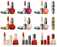 Cosmetics lipstick design Stock Photography