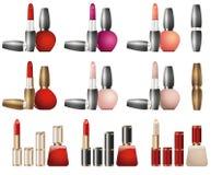 Cosmetics lipstick design. Beautiful set of decorative cosmetics. Cosmetics lipstick design Stock Photography