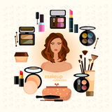 Cosmetics and make-up Stock Photography