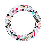 Cosmetics make-up beauty accessories illustration Royalty Free Stock Photo