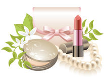 Cosmetics (make-up equipment) Royalty Free Stock Photos