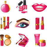 Cosmetics and make up icons Stock Photography