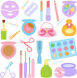 Cosmetics, Make-up in Pastel Stock Photos
