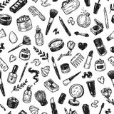 Cosmetics and make-up. Pattern. Stock Images