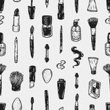 Cosmetics and make-up, pattern. Royalty Free Stock Photos