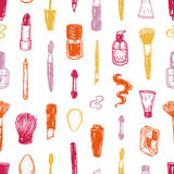 Cosmetics and make-up, pattern. Stock Images