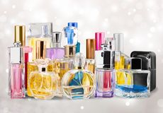 Cosmetics, Make-up, Perfume Royalty Free Stock Images