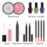 Cosmetics for a make-up set 3 Royalty Free Stock Image
