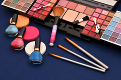 Cosmetics make up women Stock Images