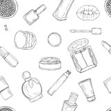 Cosmetics, makeup and beauty stock illustration