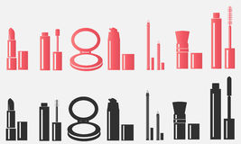 Cosmetics. makeup. cosmetics icons Royalty Free Stock Photo