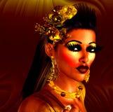 Cosmetics and makeup model, digital art Stock Photos