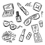 Cosmetics.  Makeup set. Royalty Free Stock Images