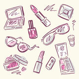 Cosmetics.  Makeup set. Stock Photos