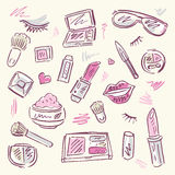 Cosmetics.  Makeup set. Stock Photography