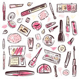 Cosmetics. Makeup set. Royalty Free Stock Photo