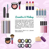 Cosmetics and makeup Royalty Free Stock Photography