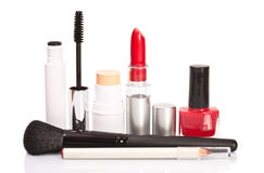 Cosmetics makeup on a white background Stock Image