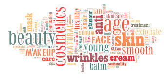 Cosmetics and makeup. Word cloud Royalty Free Stock Photography