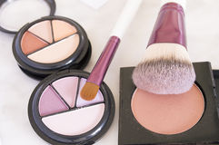 Cosmetics on marble background Royalty Free Stock Photography